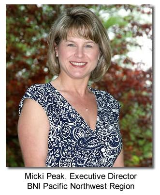 Micki Peak, Executive Directors BNI Pacific Northwest Region